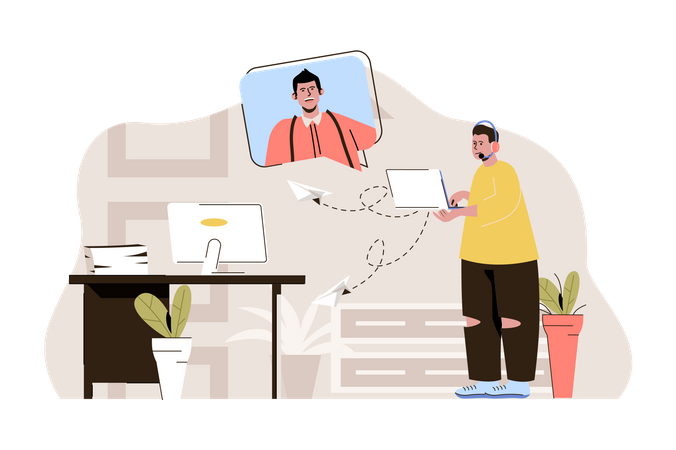 Email support Illustration