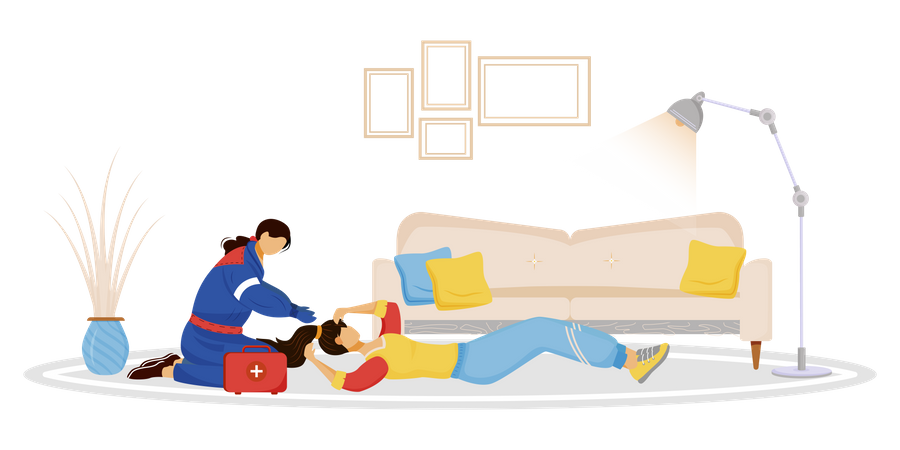 Emergency aid Illustration