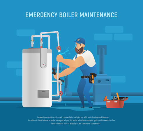 Emergency Boiler maintenance Illustration