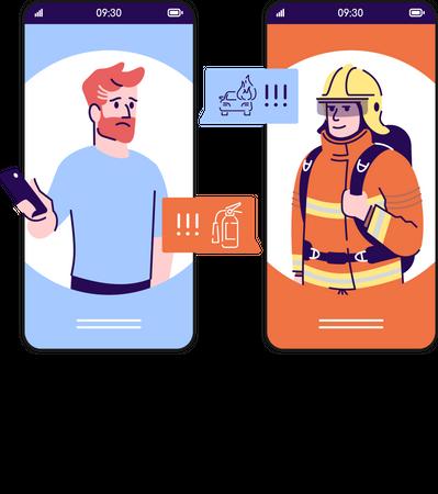 Emergency call Illustration