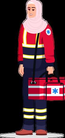 Emergency healthcare professional Illustration