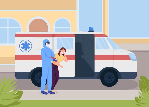 Emergency medical service Illustration