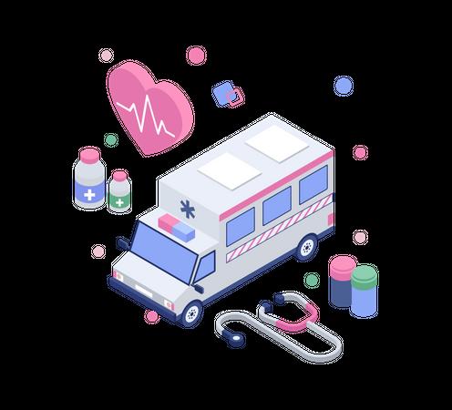 Emergency medical services Illustration