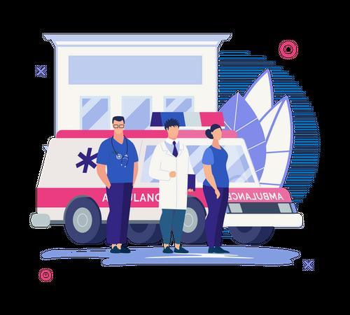 Emergency medical team Illustration