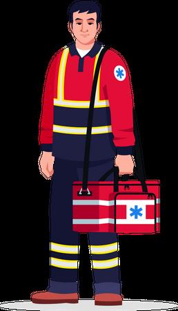 Emergency medical technician Illustration