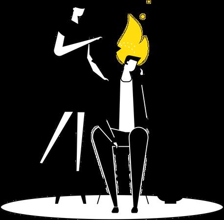 Emotional burnout Illustration