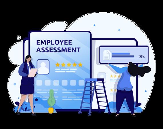 Employee assessment Illustration