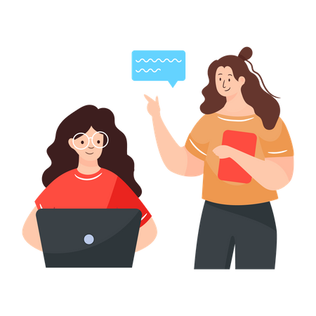 Employee Discussion Illustration