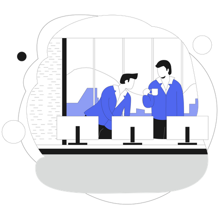 Employee doing discussion Illustration