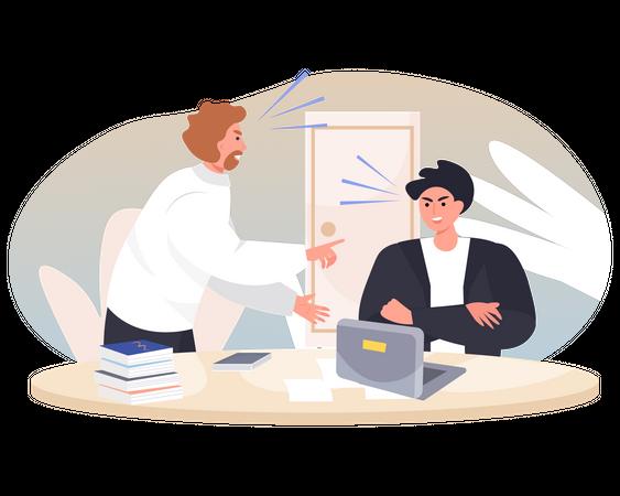 Employee handling work load Illustration