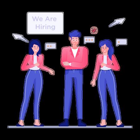 Employee Hiring Illustration