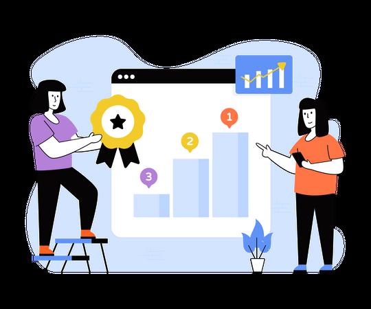 Employee Performance Growth Illustration