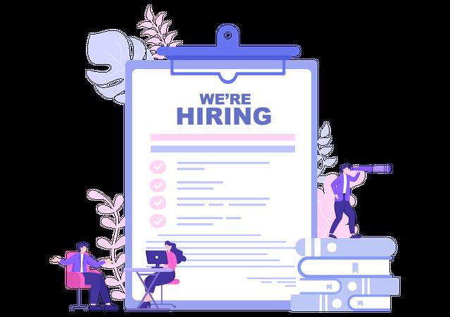 Employee Recruitment Illustration