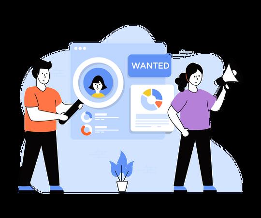 Employee Recruitment Process Illustration