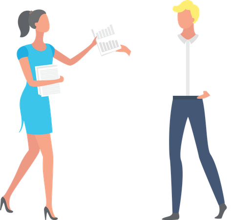 Employee sharing documents Illustration