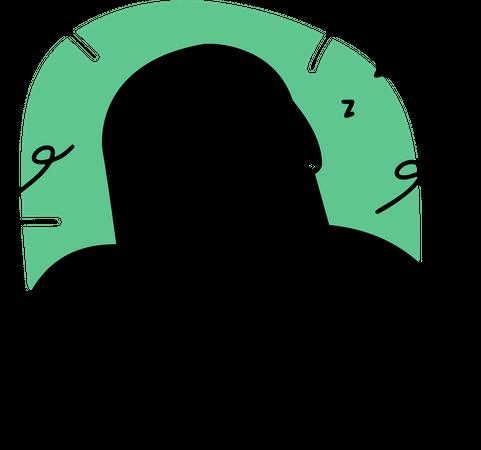 Employee taking power nap Illustration