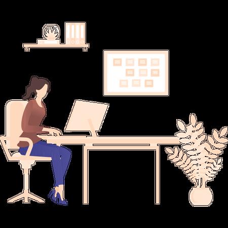 Employer doing event planning Illustration