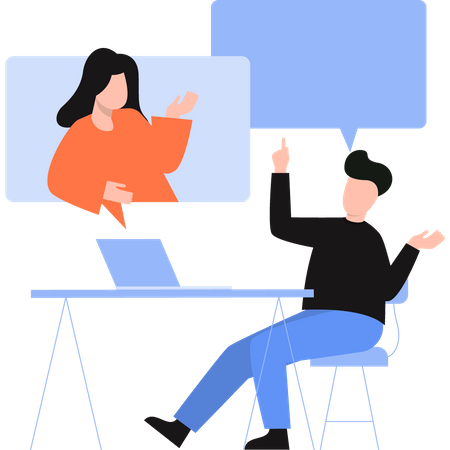 Employers doing business discussion Illustration