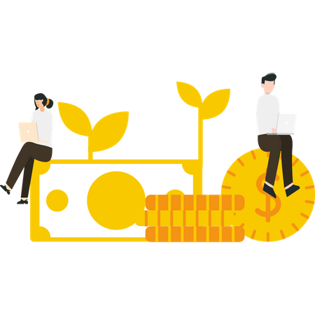 Employers doing financial planning Illustration