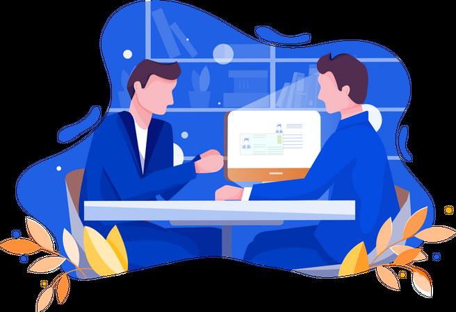 Employment provide company Illustration