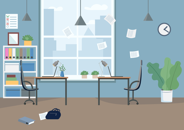Empty office Illustration