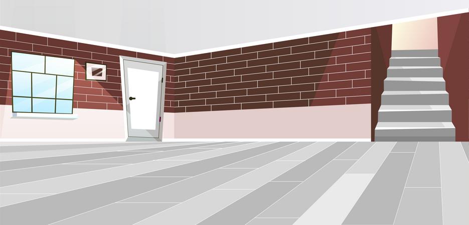 Empty room interior Illustration