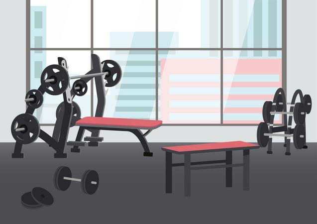 Empty sports center Illustration