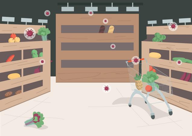 Empty supermarket Illustration