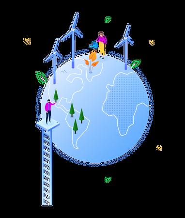 Energy saving Illustration