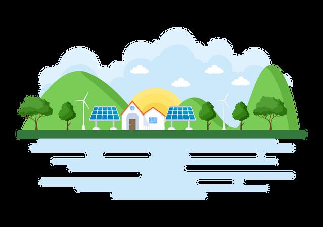 Energy Supply Illustration