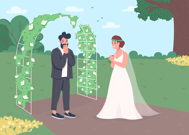Engagement Ceremony Illustration