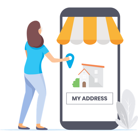 Enter your address for home delivery Illustration
