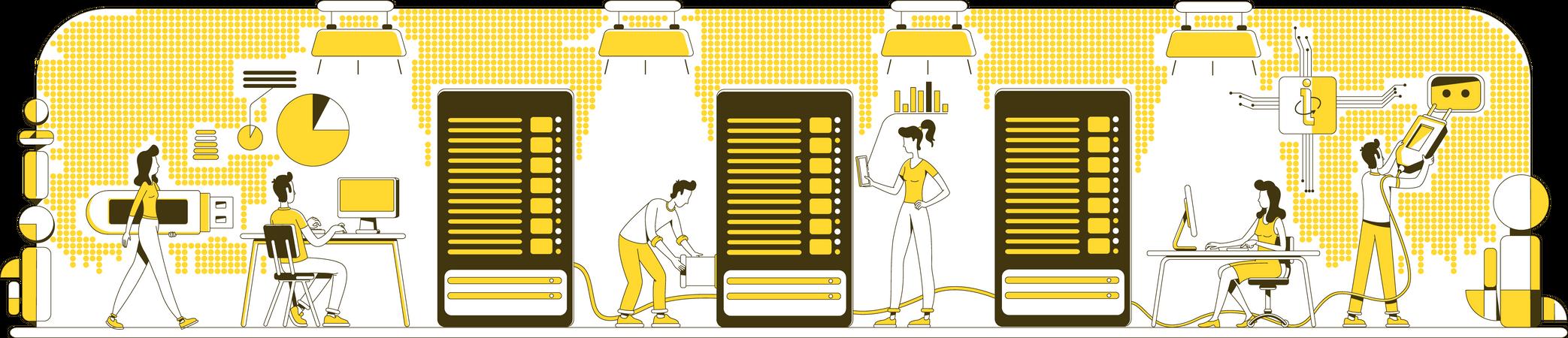 Enterprise storage system Illustration