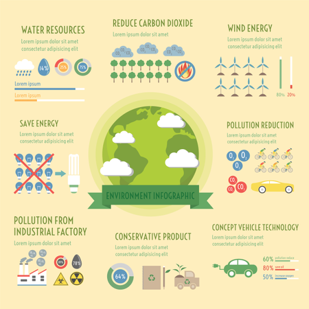 Environment Infographic Elements, Renewable Concept Illustration