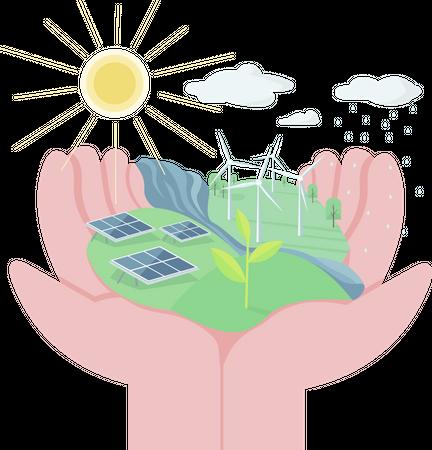 Environment protection Illustration