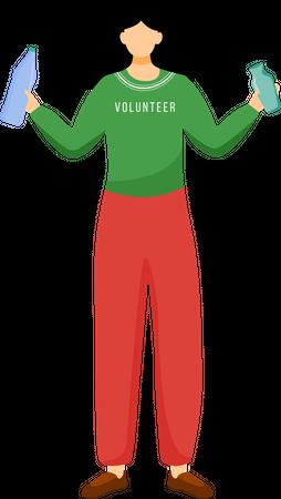 Environmental activist Illustration