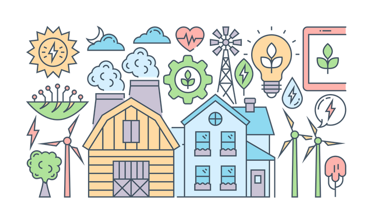 Environmental energy Illustration