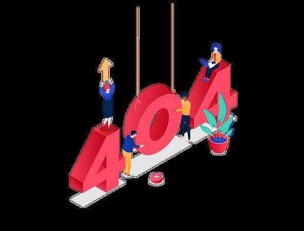 Error 404 page Illustration
