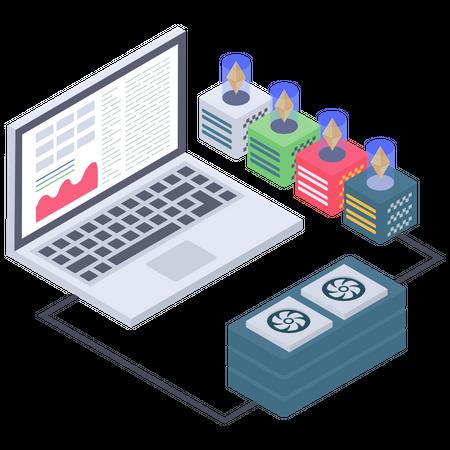 Ethereum server connectivity Illustration