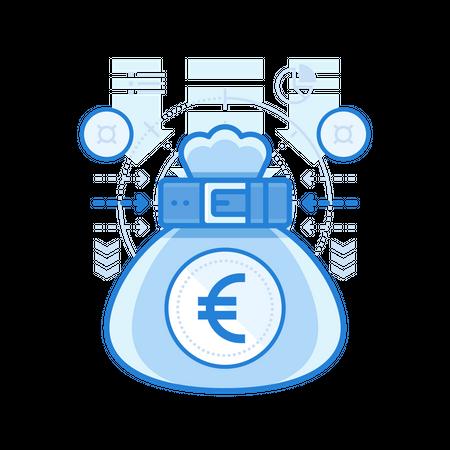 Euro Bag Illustration