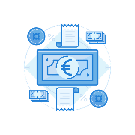 Euro Cash Illustration