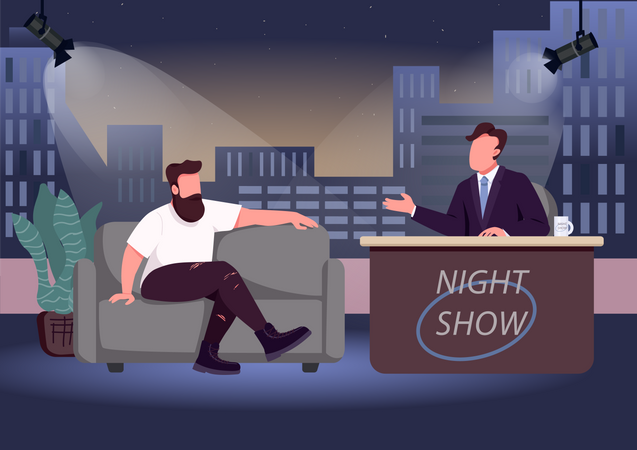 Evening talk show Illustration