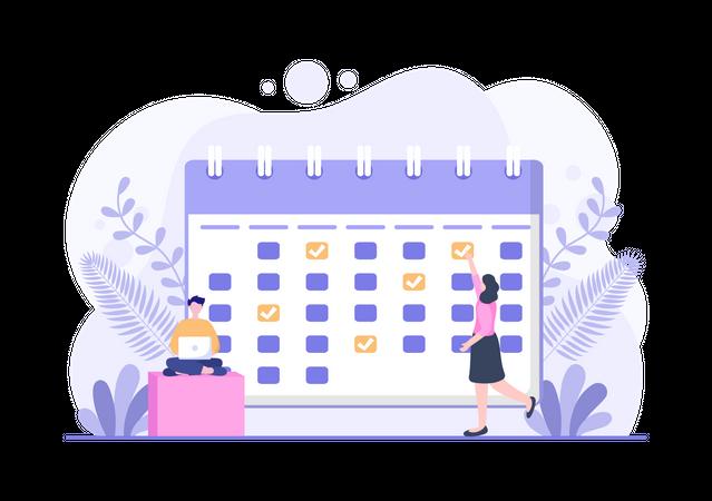 Events Organizing Process Illustration
