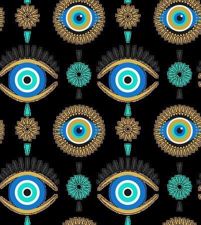 Evil eyes Illustration