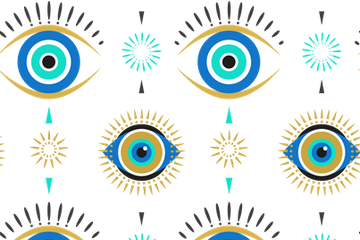 Evil Eyes Pattern Illustration Pack