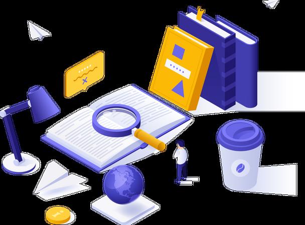 Exam preparation Illustration