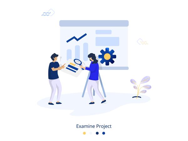 Examine Project Illustration Illustration