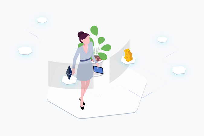 Exchange Cryptocurrency Illustration