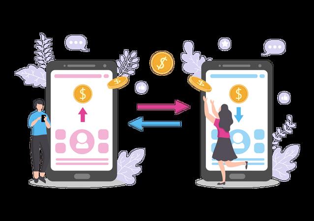 Exchange Currency Illustration