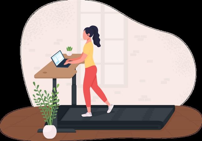Exercising at work Illustration